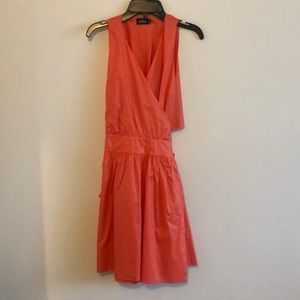 Kate Spade poppy summer cotton wrap dress size 2